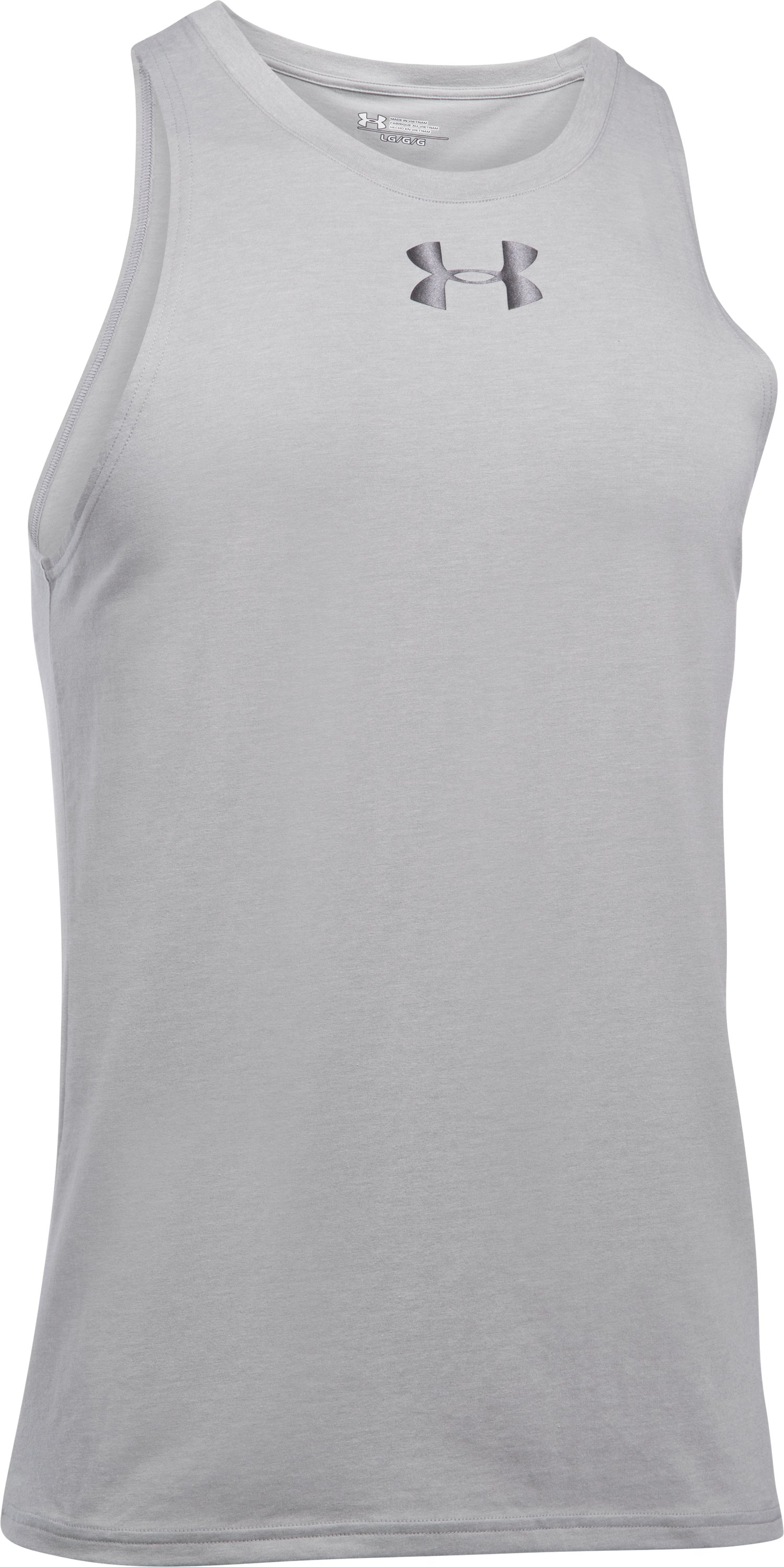 Men's UA Baseline Tank, True Gray Heather, undefined