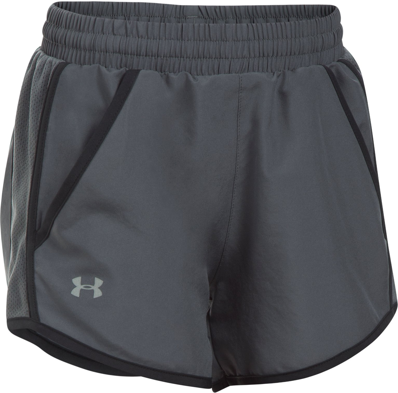 Girls' UA Fly-By Shorts, RHINO GRAY