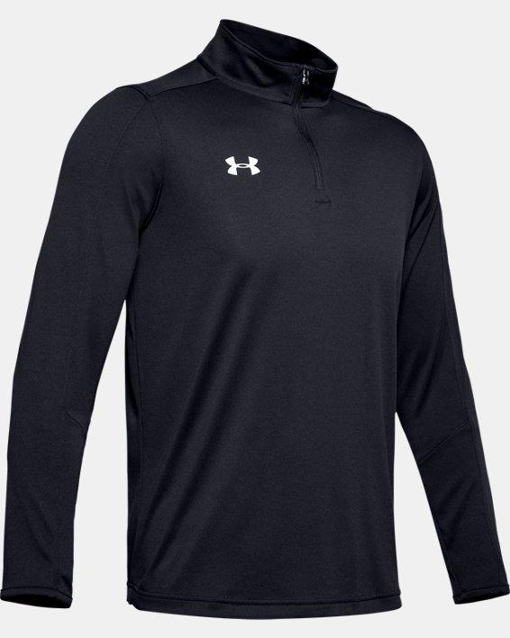 Men's UA Reflex Rival ¼ Zip, Black, pdpMainDesktop image number 5