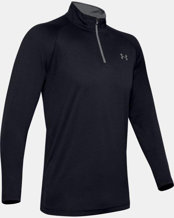 Men's UA Velocity 2.0 ¼ Zip, Black, pdpMainDesktop image number 4