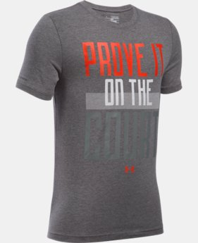 Boys' UA Prove It On The Court Short Sleeve T-Shirt  1 Color $13.99