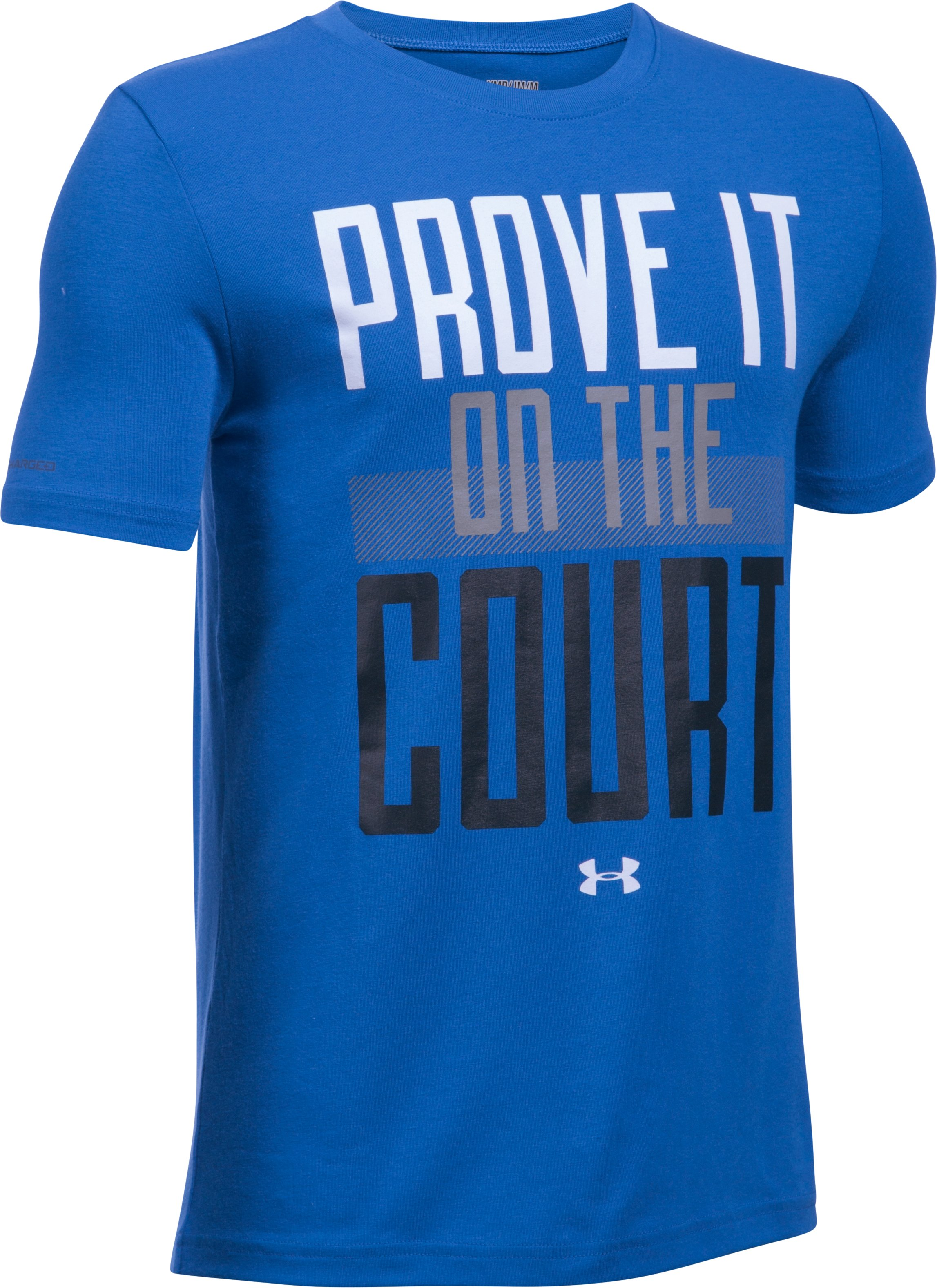 Boys' UA Prove It On The Court Short Sleeve T-Shirt, ULTRA BLUE