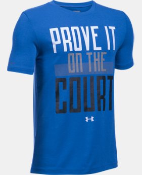 Boys' UA Prove It On The Court Short Sleeve T-Shirt  1 Color $17.24