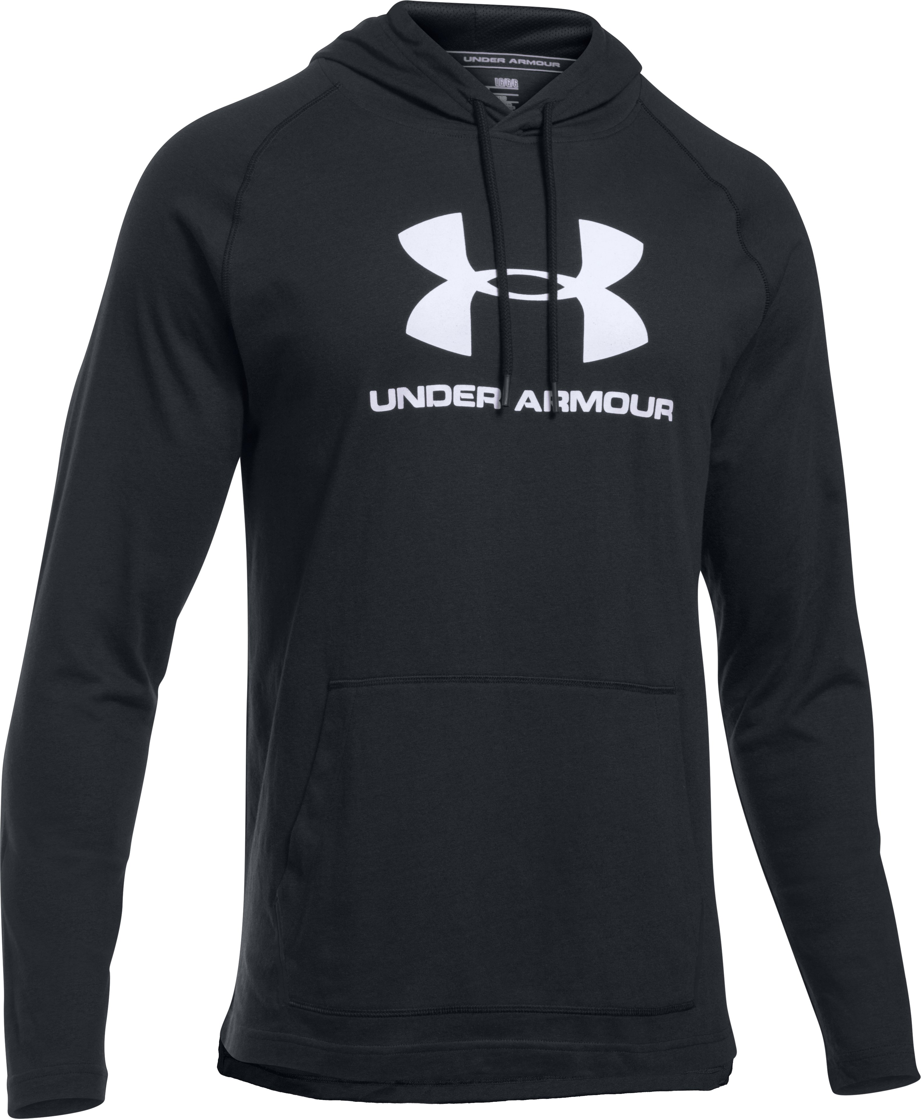 Men's UA Sportstyle Athletics Hoodie, Black , undefined