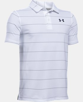New Arrival Boys' UA Playoff Stripe Polo Shirt  1 Color $39.99