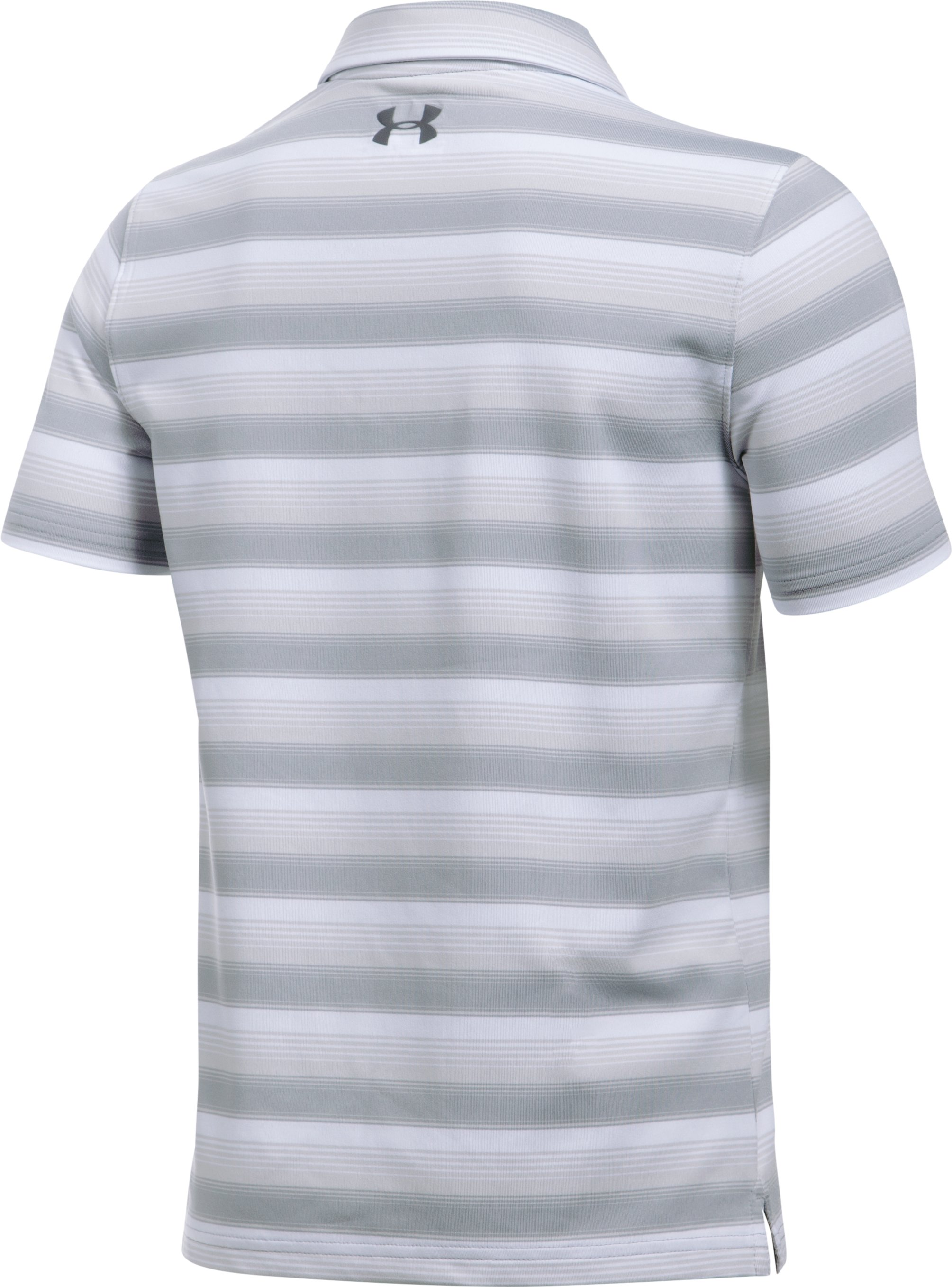 Boys' UA Playoff Stripe Polo, White, undefined
