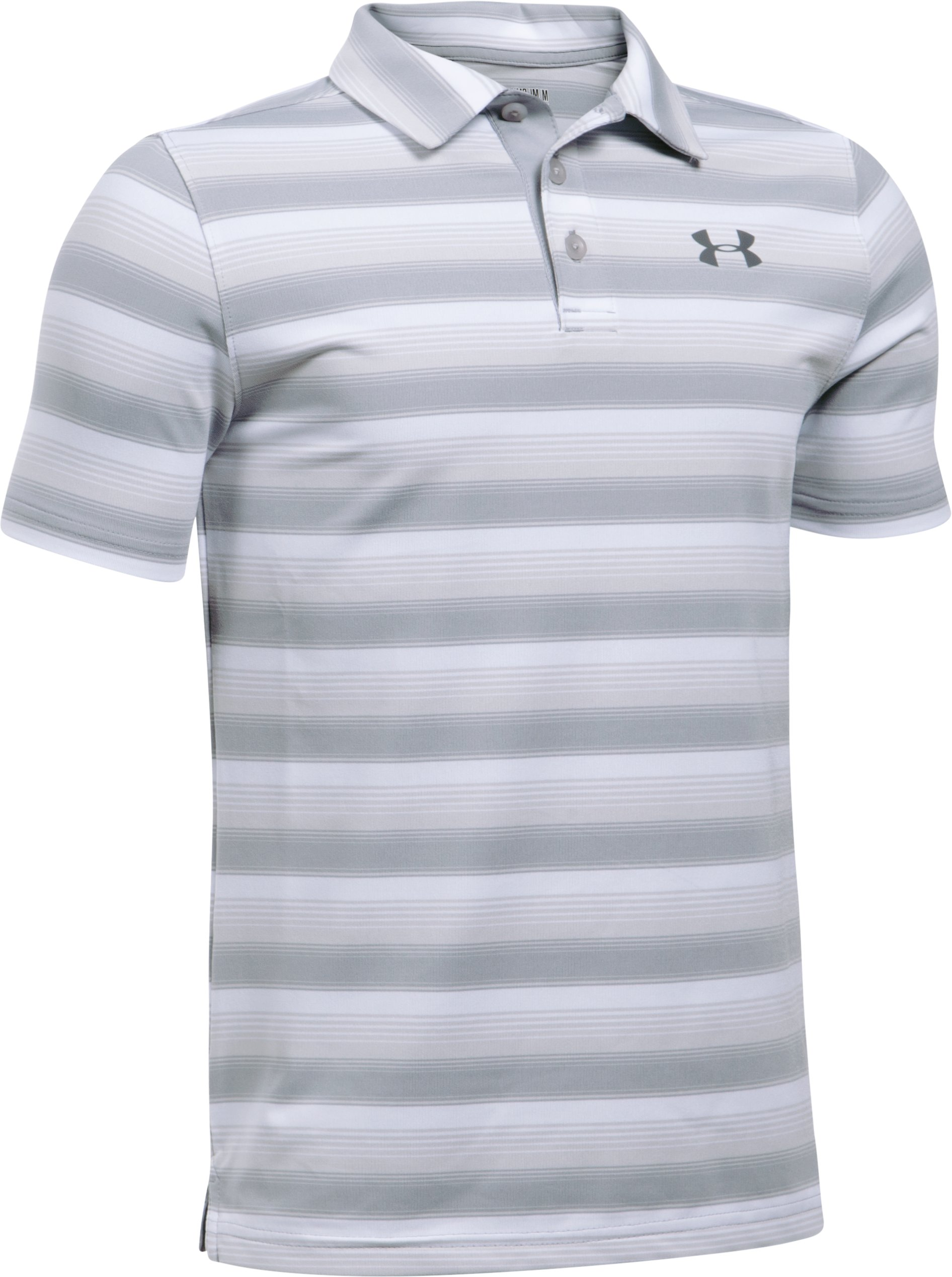 Boys' UA Playoff Stripe Polo, White
