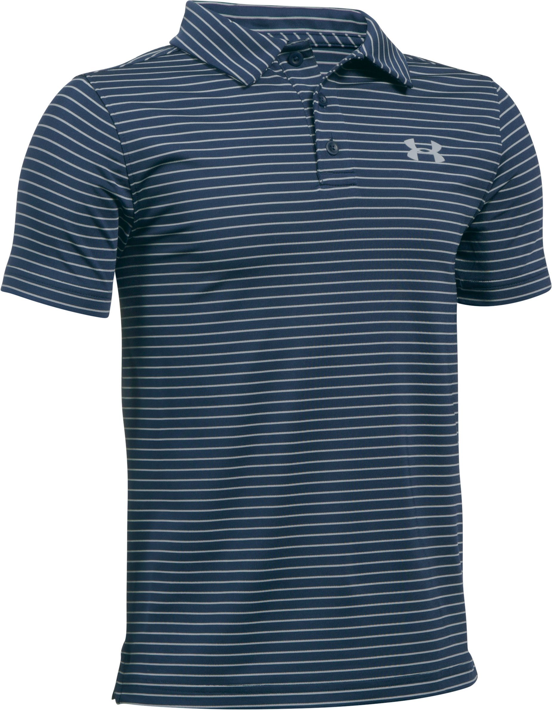Boys' UA Playoff Stripe Polo, Academy, undefined