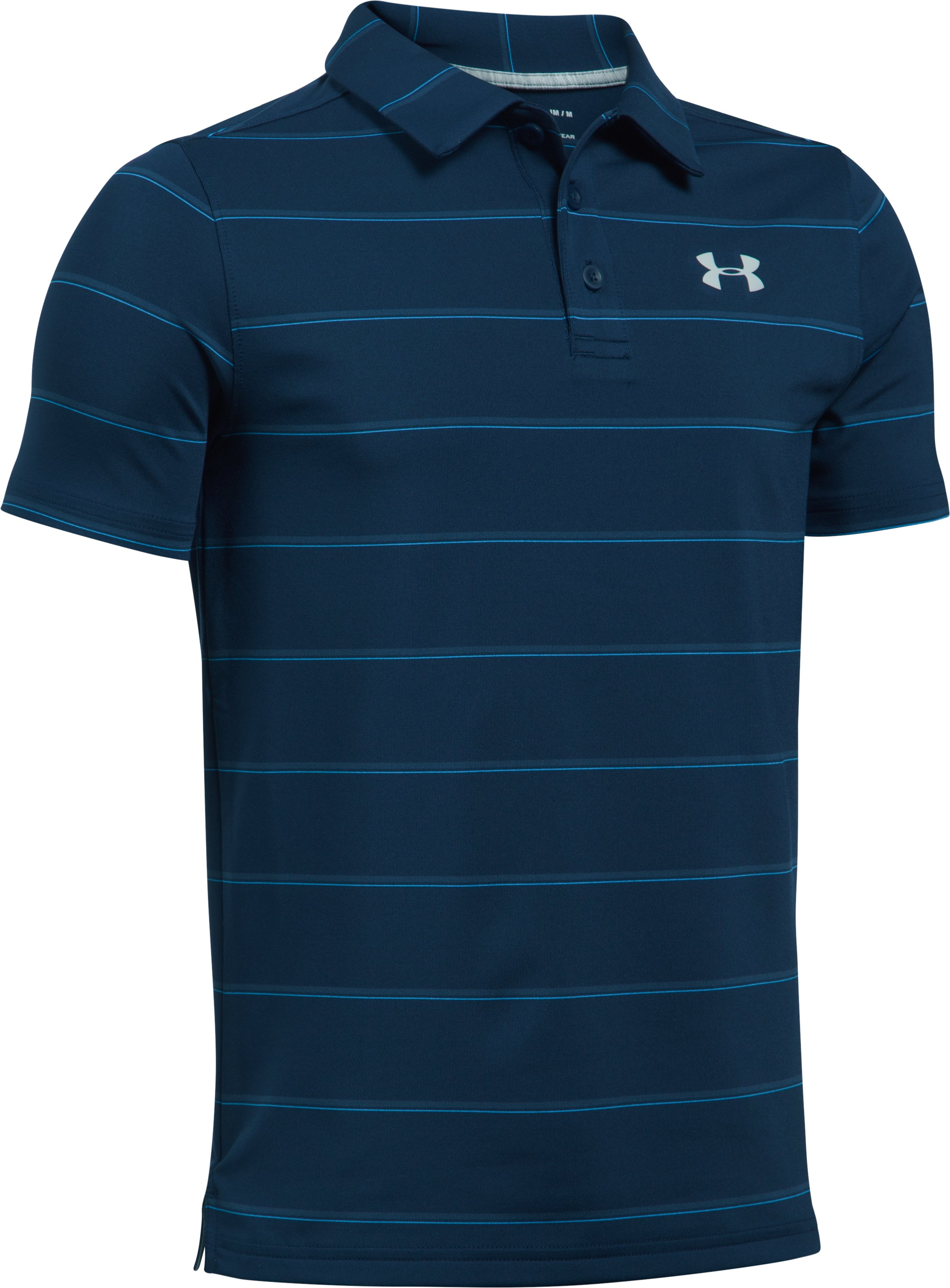 Boys' UA Playoff Stripe Polo, Academy,