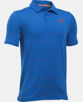 Boys' UA Playoff Stripe Polo  2 Colors $29.99