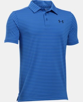 New Arrival  Boys' UA Playoff Stripe Polo Shirt   $44.99