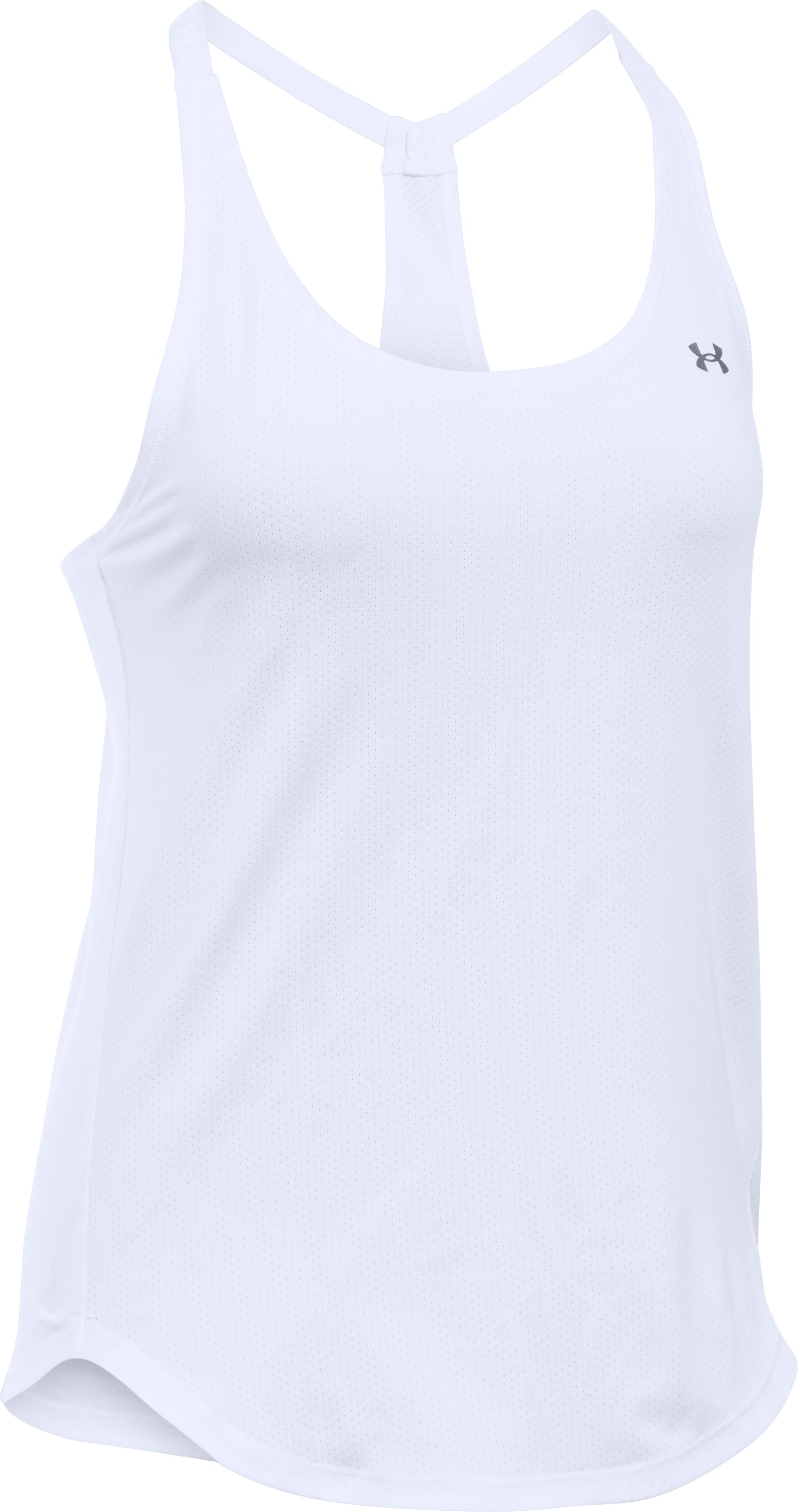 Women's UA HeatGear® Armour CoolSwitch Tank, White, undefined