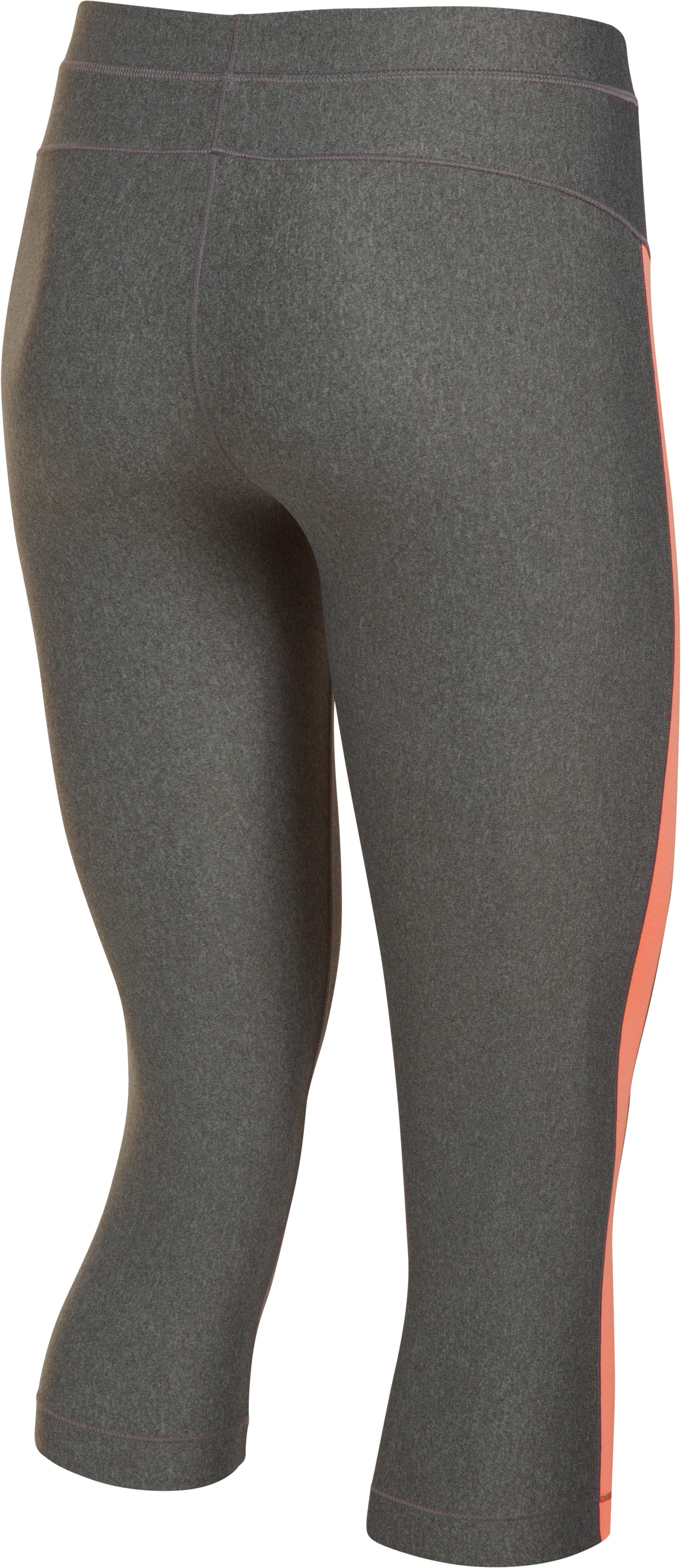 Women's UA CoolSwitch Capris, Carbon Heather,