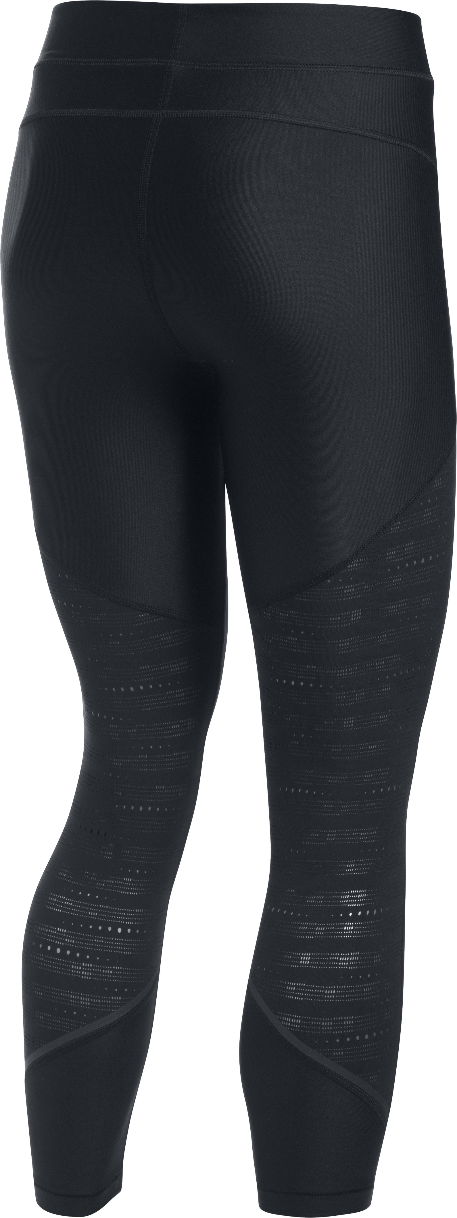 Women's UA HeatGear® Armour SuperVent Crop, Black ,