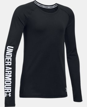 Girls' UA HeatGear® Armour Long Sleeve  1 Color $29.99