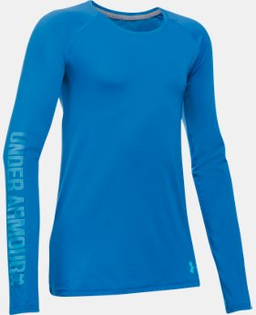 Girls' UA HeatGear® Armour Long Sleeve  1 Color $22.99