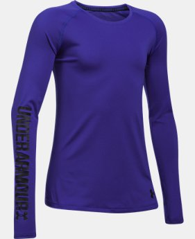 Girls' UA HeatGear® Armour Long Sleeve  1 Color $22.49 to $22.99
