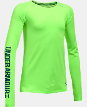 Girls' UA HeatGear® Armour Long Sleeve   $29.99
