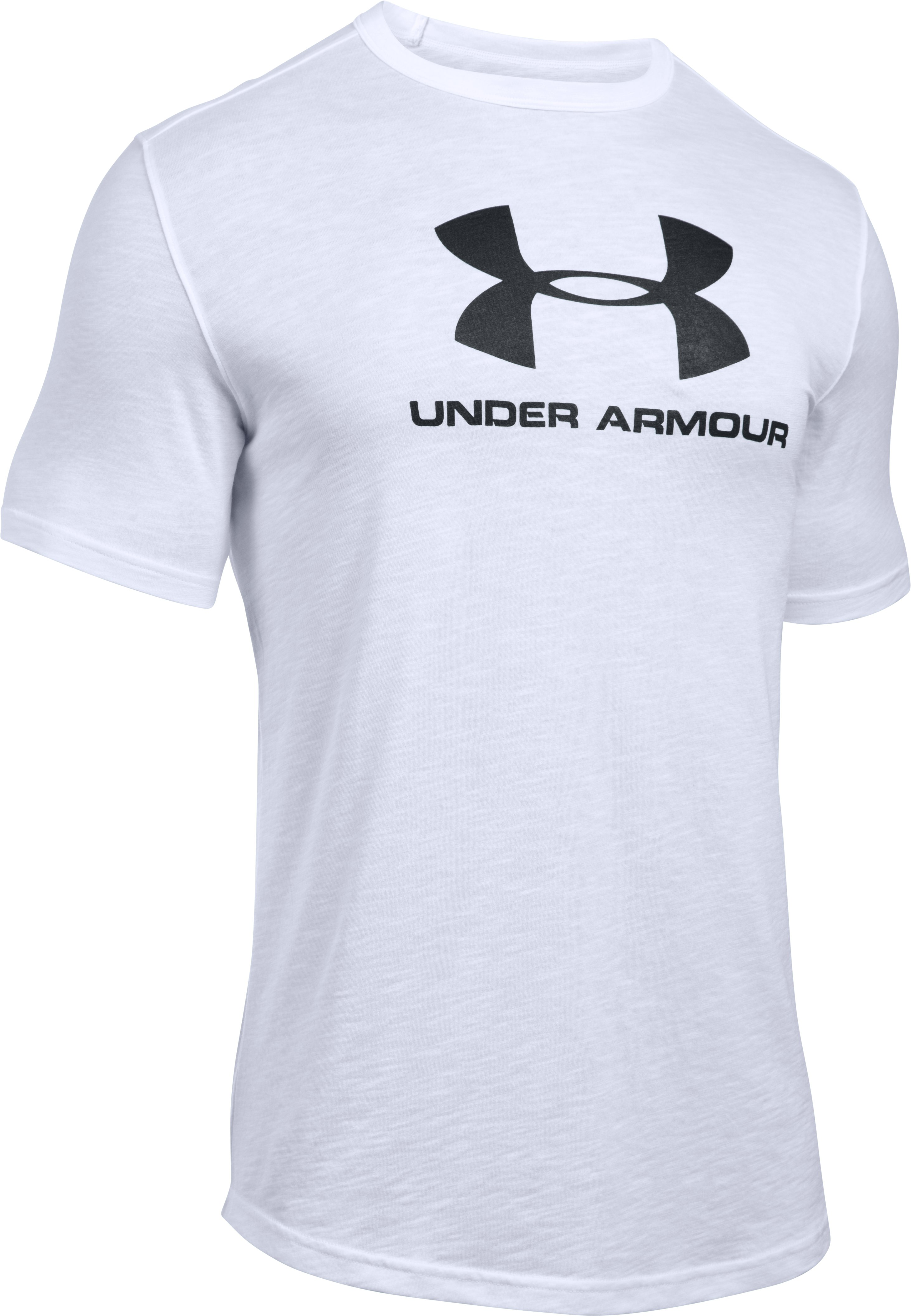Men's UA Sportstyle Branded T-Shirt, White, undefined