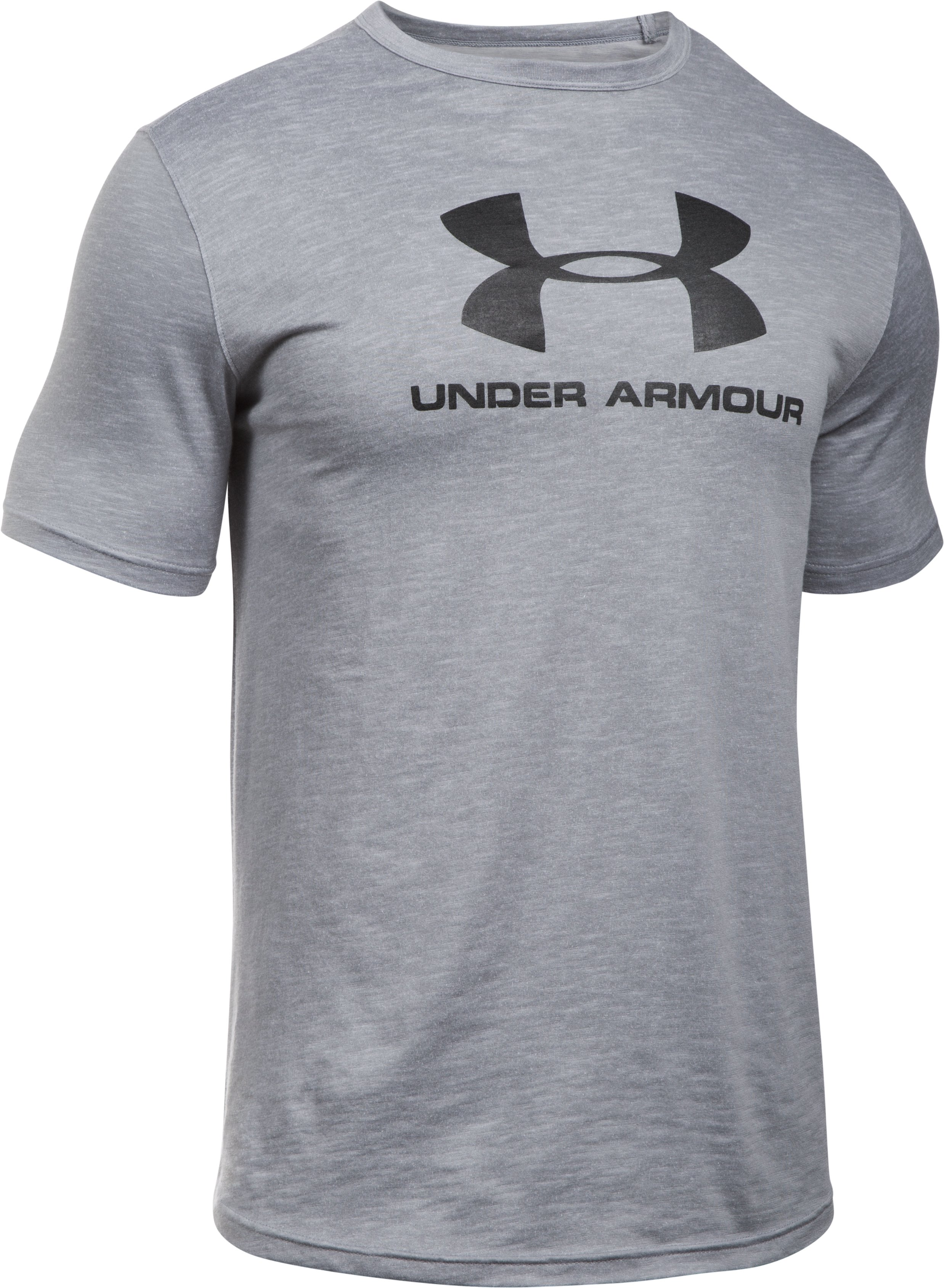 Men's UA Sportstyle Branded T-Shirt, OVERCAST GRAY, undefined