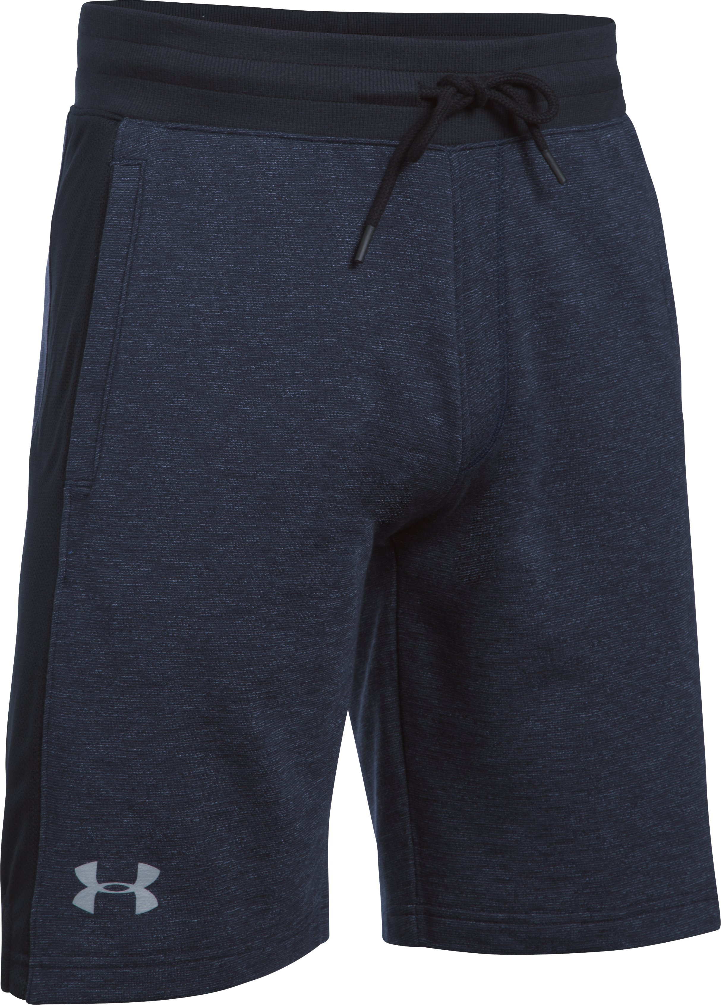 Men's UA Sportstyle Fleece Graphic Shorts, Midnight Navy,