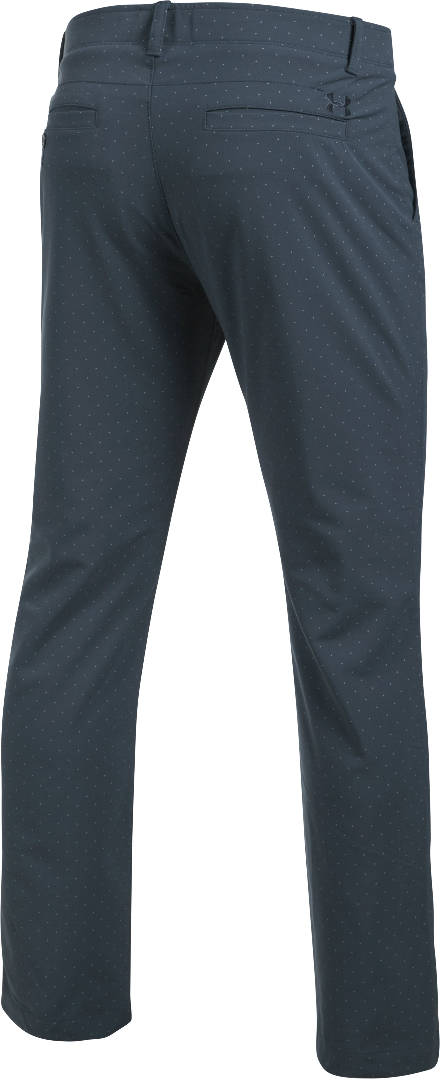 Men's UA Match Play Tapered Houndstooth Pants, STEALTH GRAY,