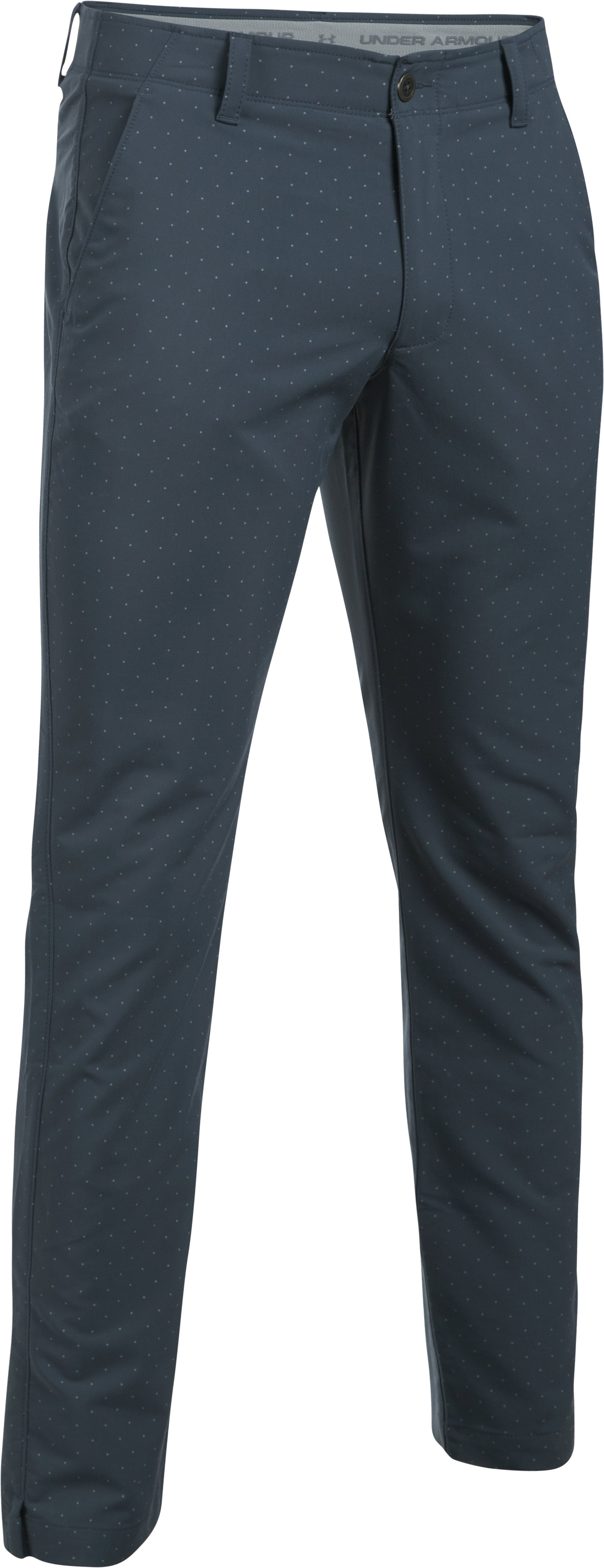 Men's UA Match Play Tapered Houndstooth Pants, STEALTH GRAY, undefined