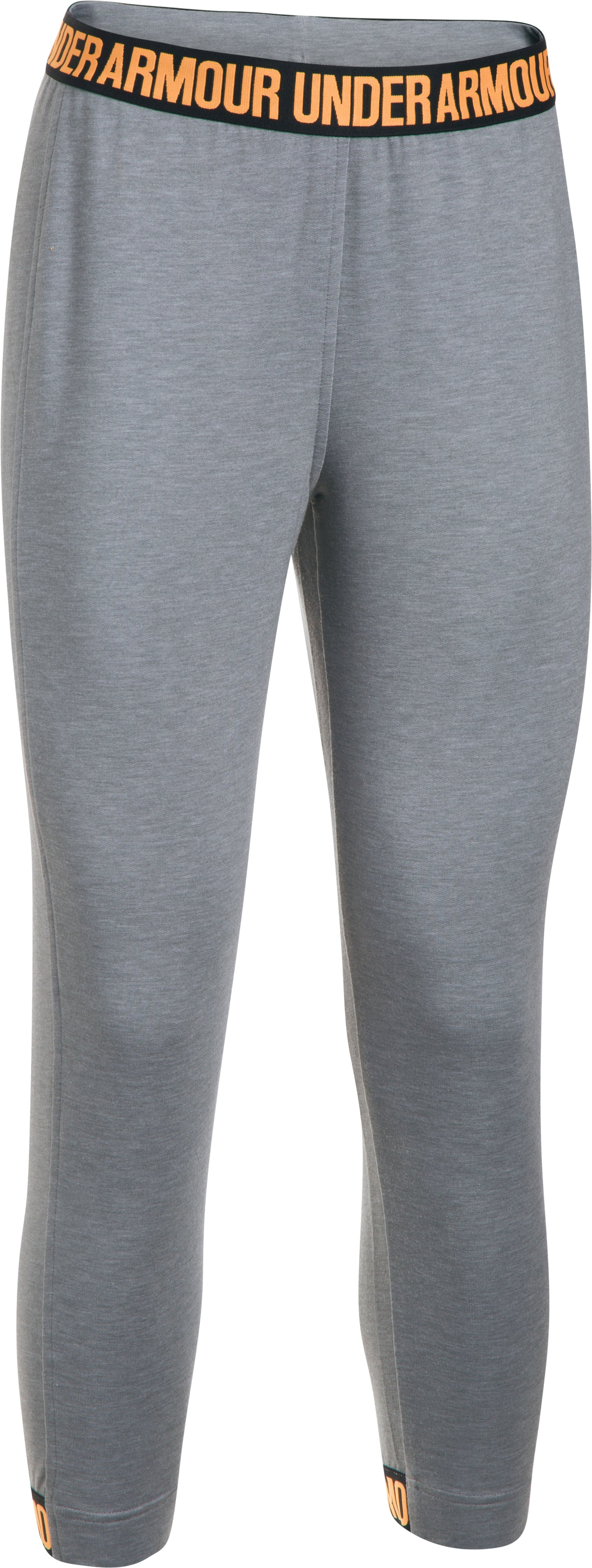 Women's UA Featherweight Fleece Crop, True Gray Heather,