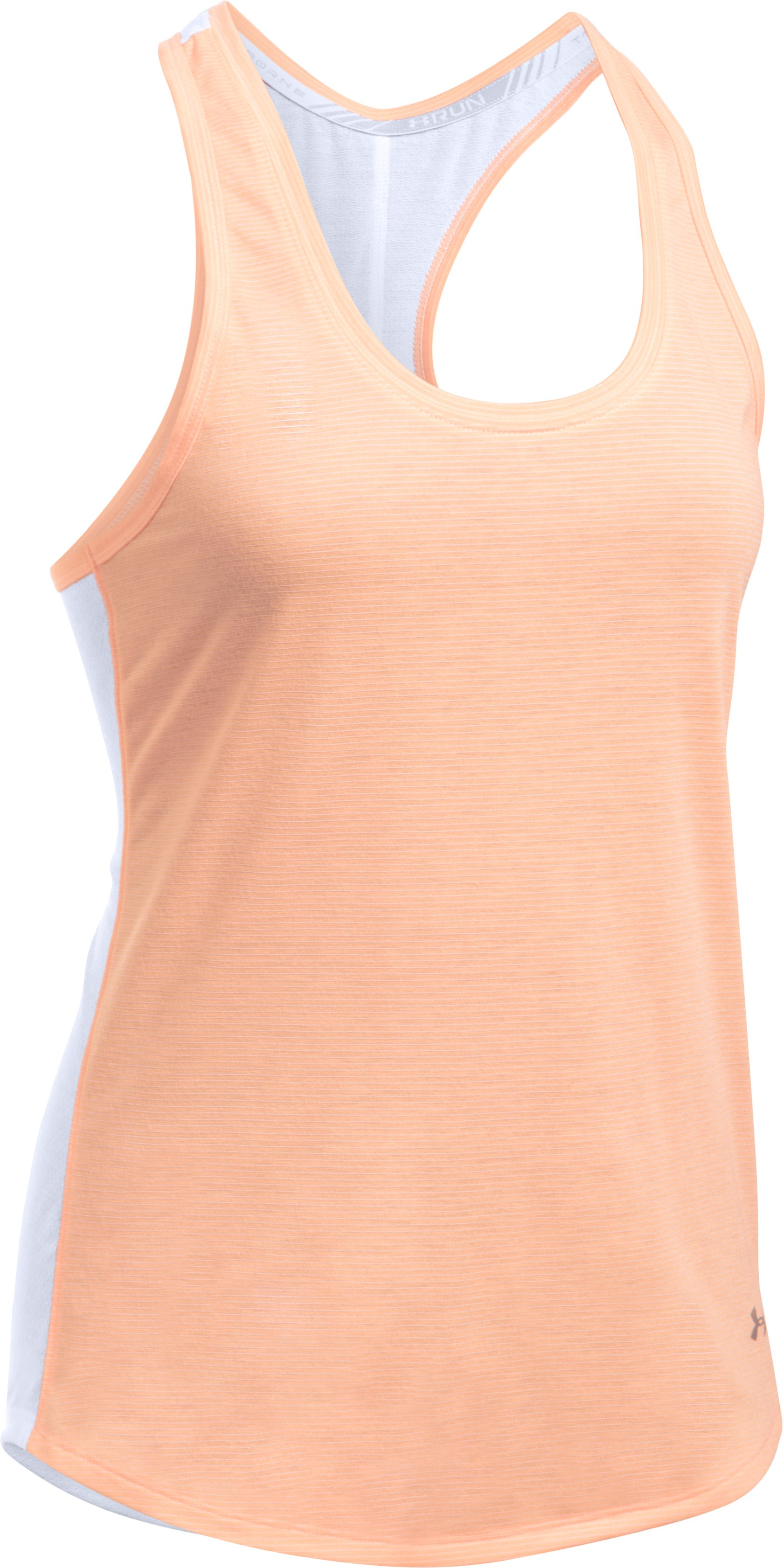 Women's UA Threadborne Mesh Tank, White, undefined