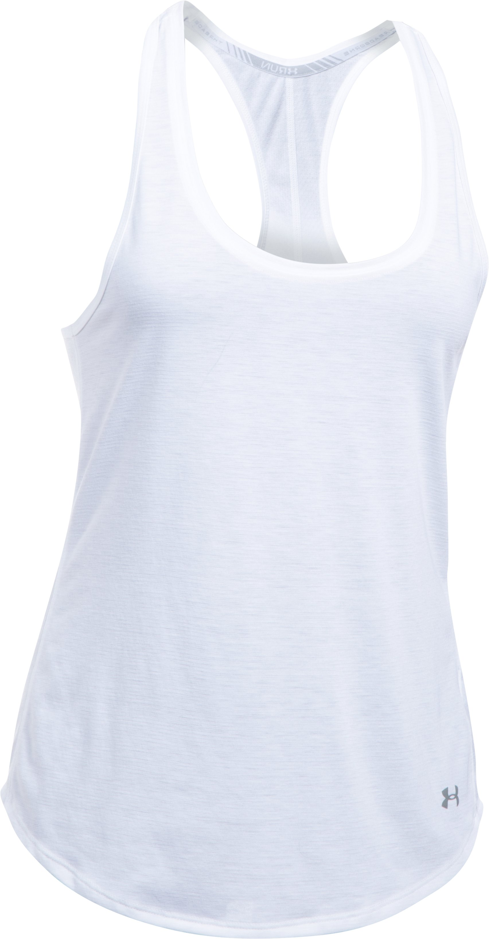 Women's UA Threadborne Mesh Tank, White