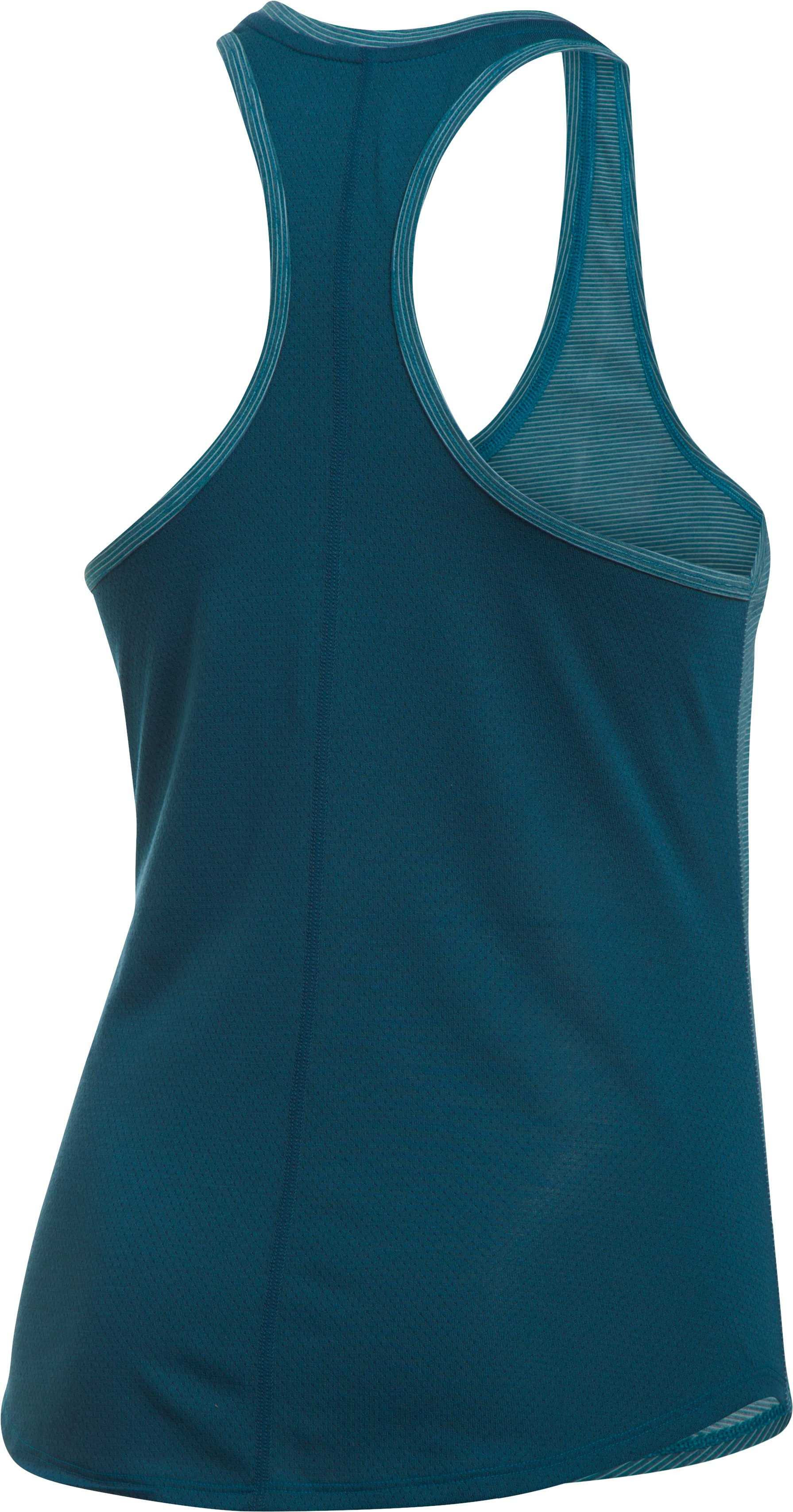 Women's UA Threadborne Mesh Tank, BAYOU BLUE,