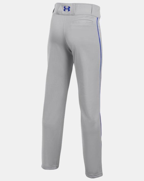 Boys' UA Clean Up Piped Baseball Pants, Gray, pdpMainDesktop image number 1