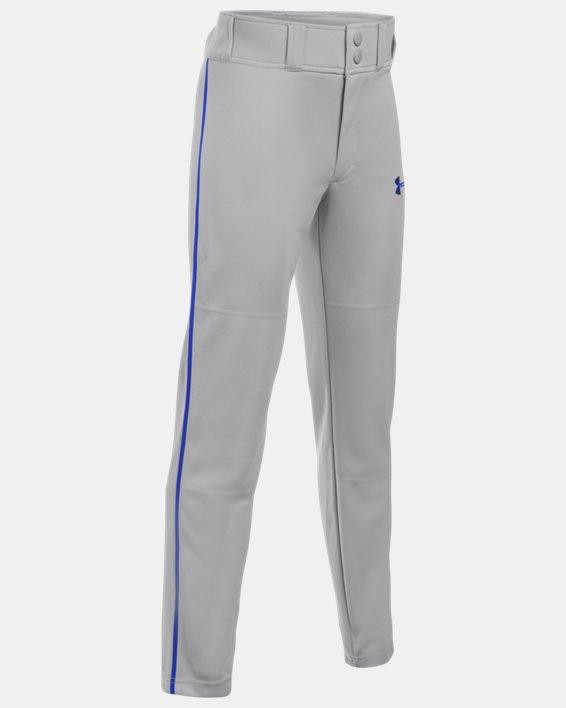 Boys' UA Clean Up Piped Baseball Pants, Gray, pdpMainDesktop image number 0