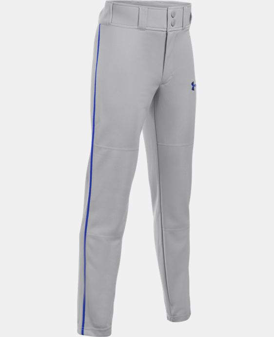 New Arrival Boys' UA Clean Up Piped Baseball Pants   $24.99