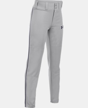 Boys' UA Clean Up Piped Baseball Pants LIMITED TIME: FREE U.S. SHIPPING 4 Colors $24.99
