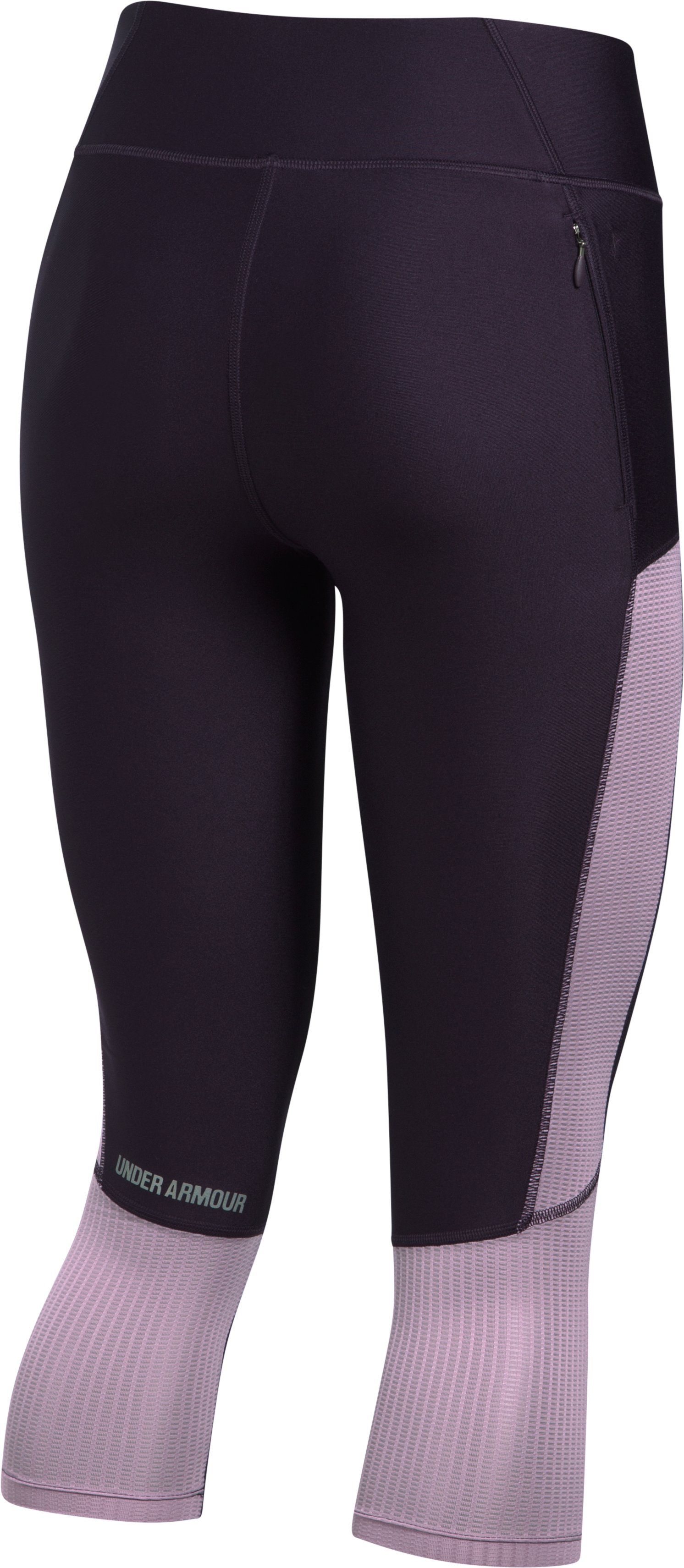 Women's UA Fly-By Mesh Inset Capris, IMPERIAL PURPLE, undefined