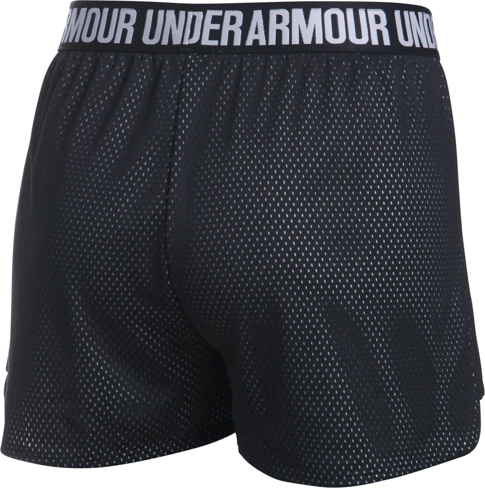 Women's UA Play Up Shorts 2.0 - Mesh, Black , undefined