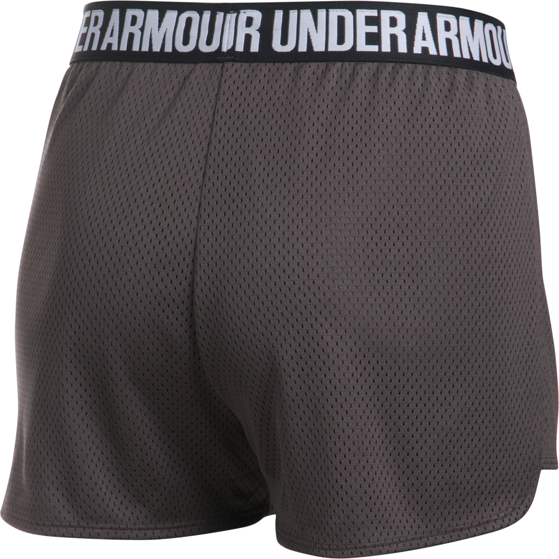 Women's UA Play Up Shorts 2.0 - Mesh, Charcoal,