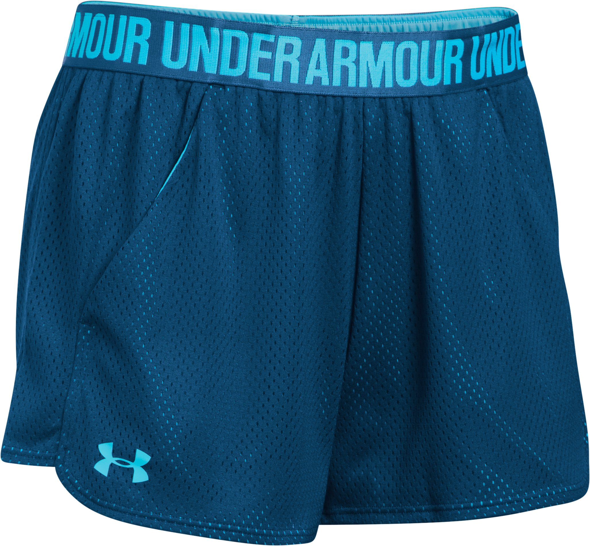 Women's UA Play Up Shorts 2.0 - Mesh, BLACKOUT NAVY