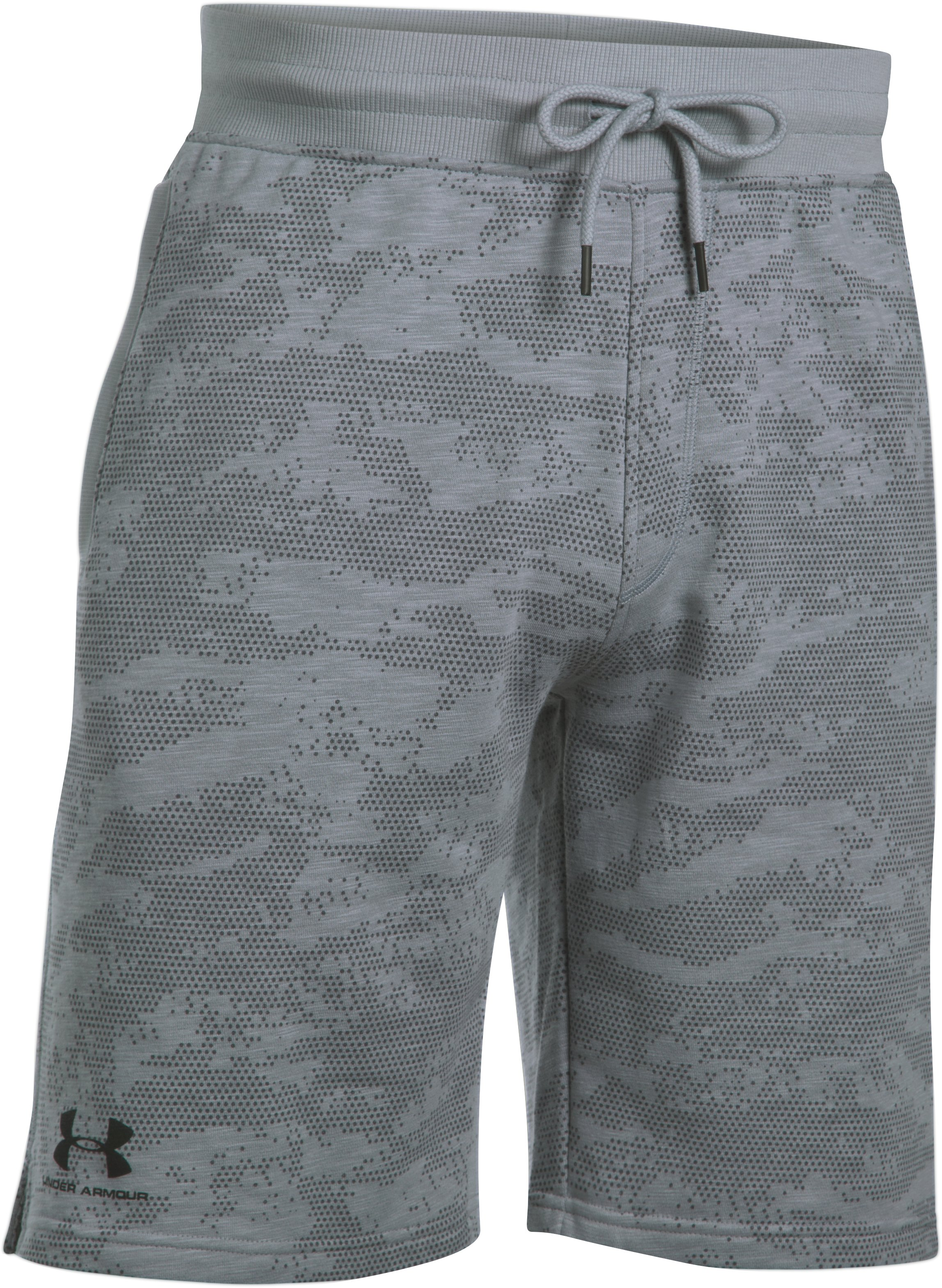 Men's UA Sportstyle Fleece Camo Shorts, Steel, undefined