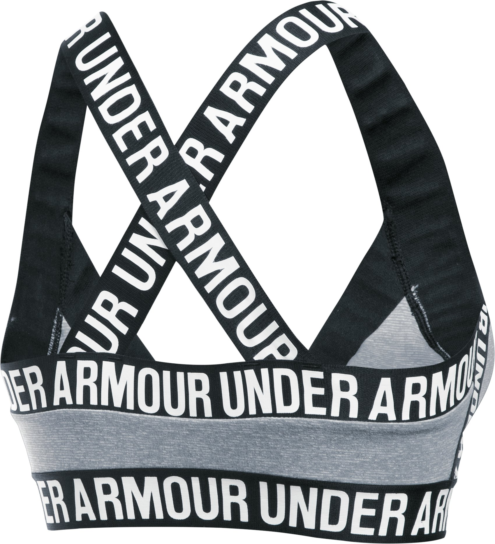 Women's UA Opening Night Strappy Bra, Steel, undefined