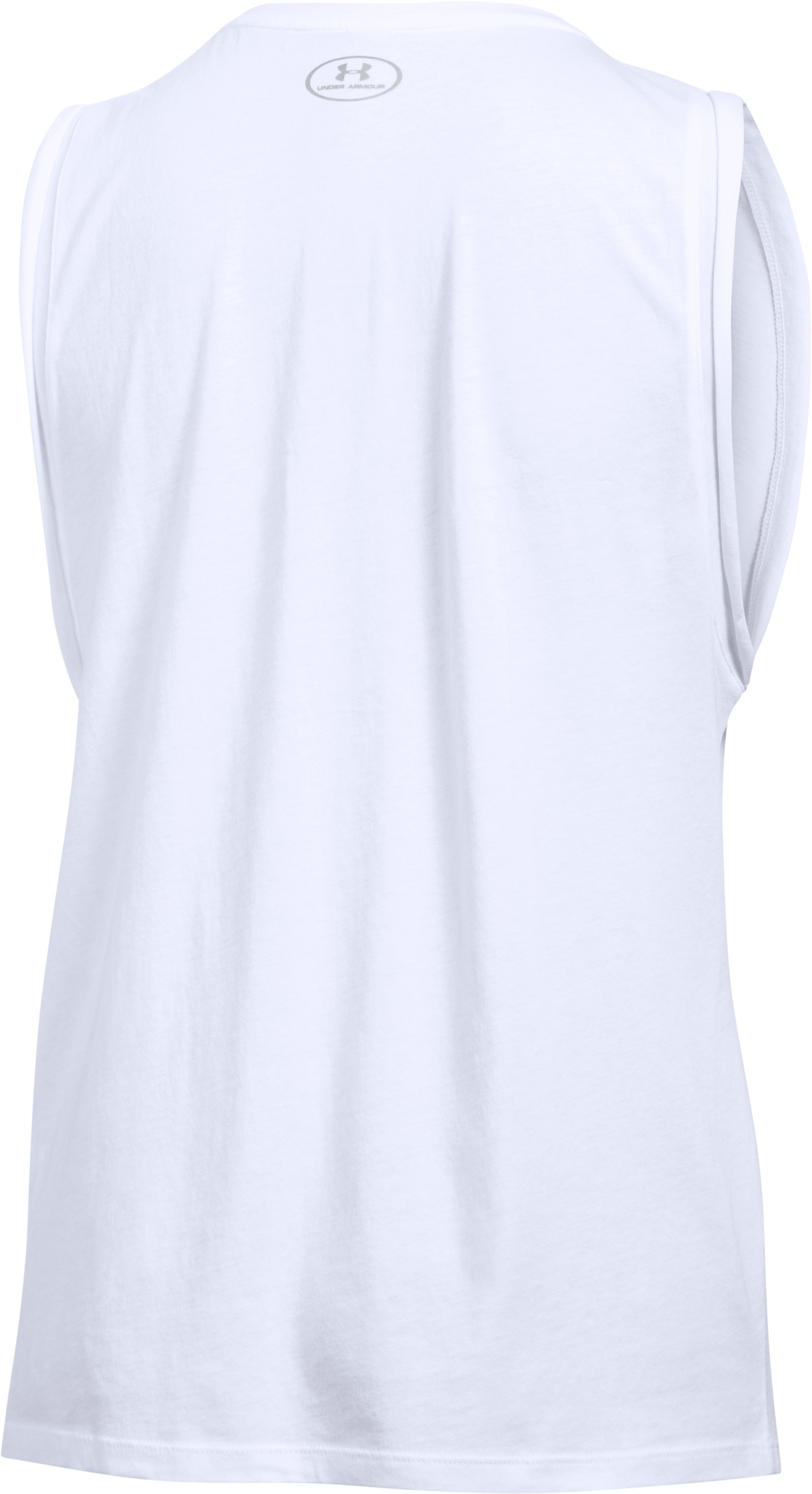 Women's UA USA Athlete Muscle Tank, White, undefined