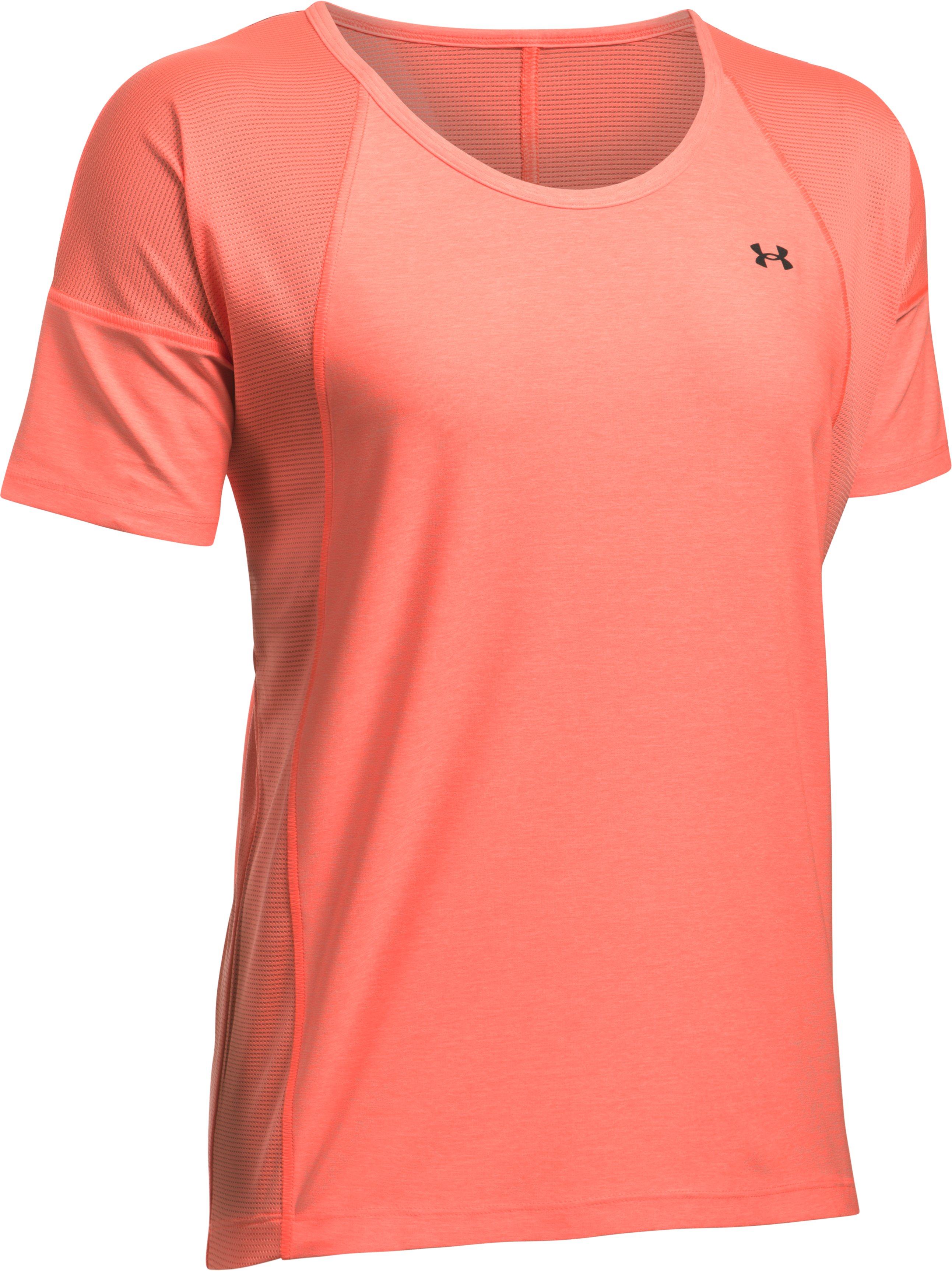 Women's UA Got Game Twist Short Sleeve, LONDON ORANGE,