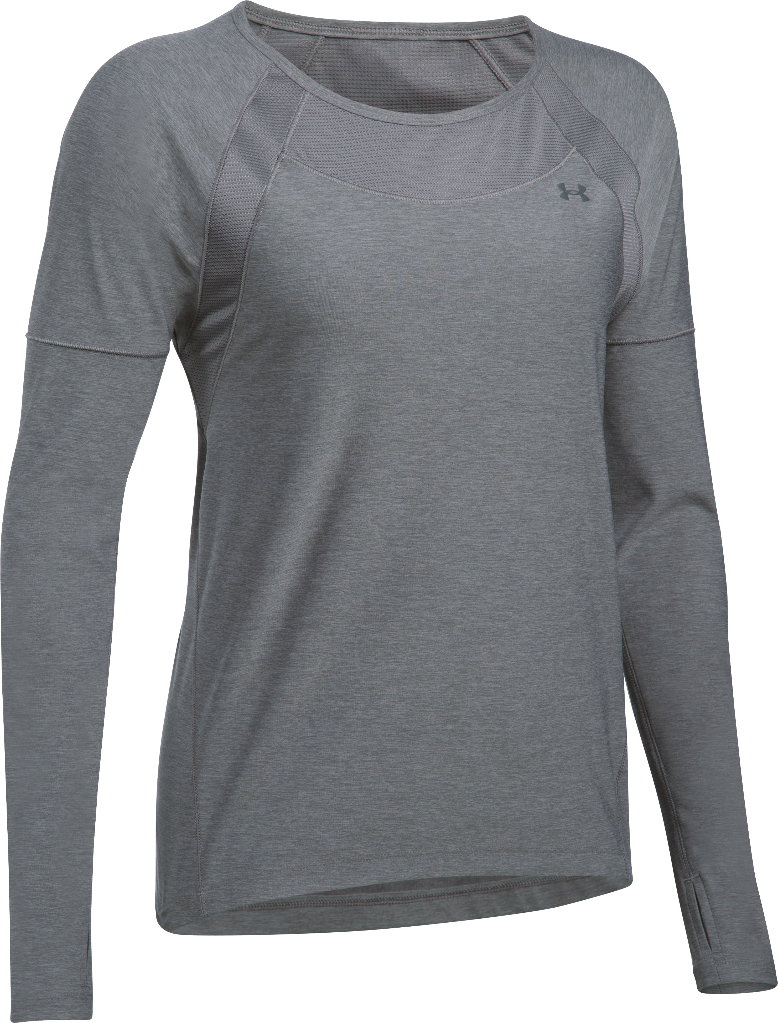Women's UA Got Game Twist Long Sleeve, Graphite, undefined