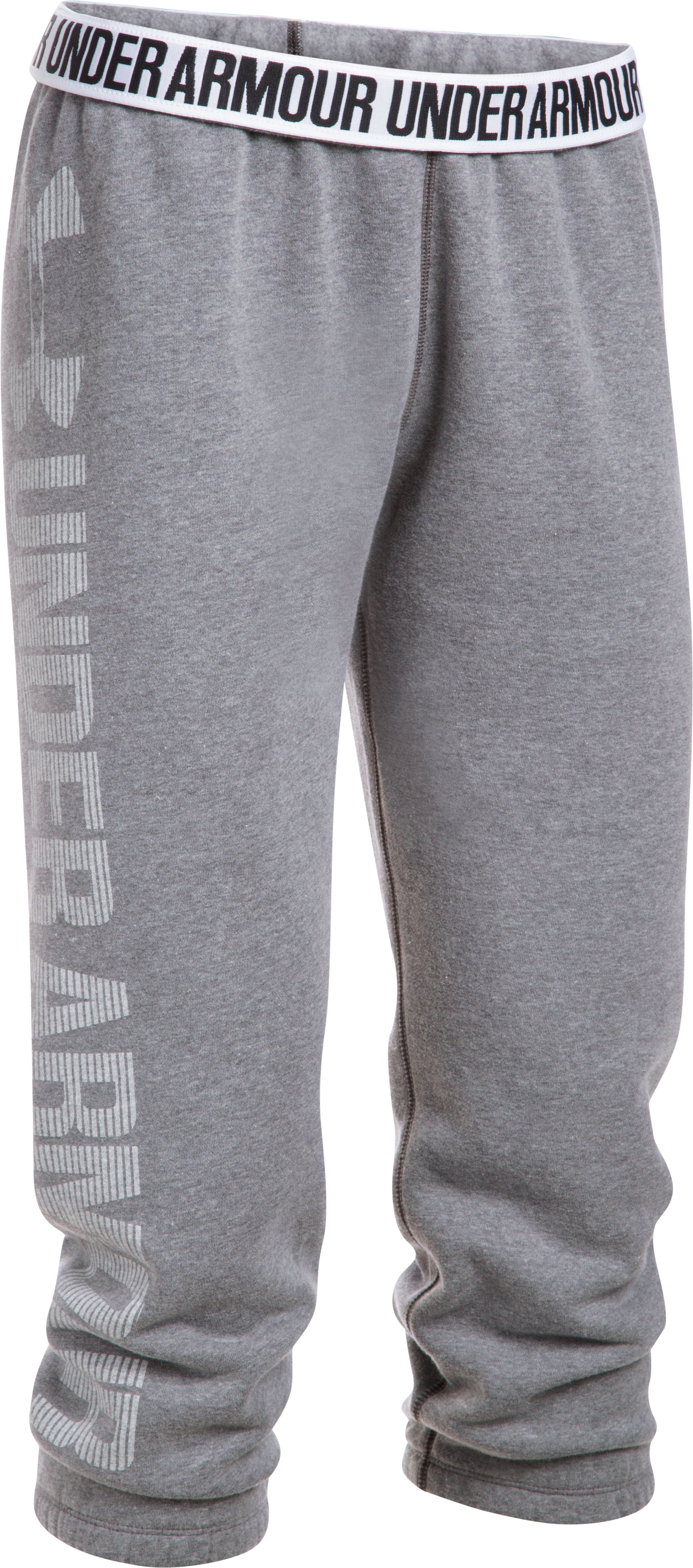 Women's UA Favorite Fleece Capris, BLACK LIGHT HEATHER