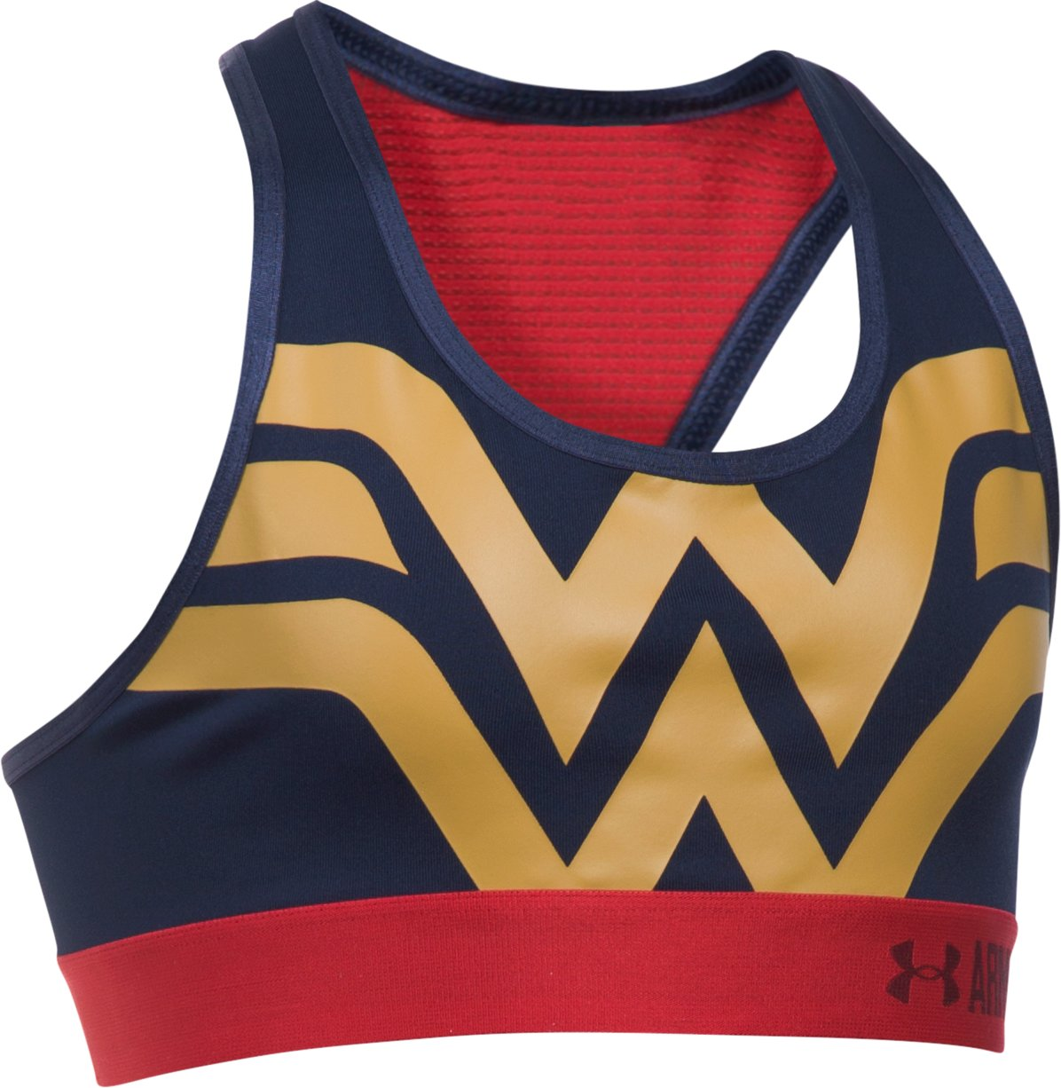 Girls' Under Armour® Alter Ego Wonder Woman Armour® Bra, Midnight Navy, undefined