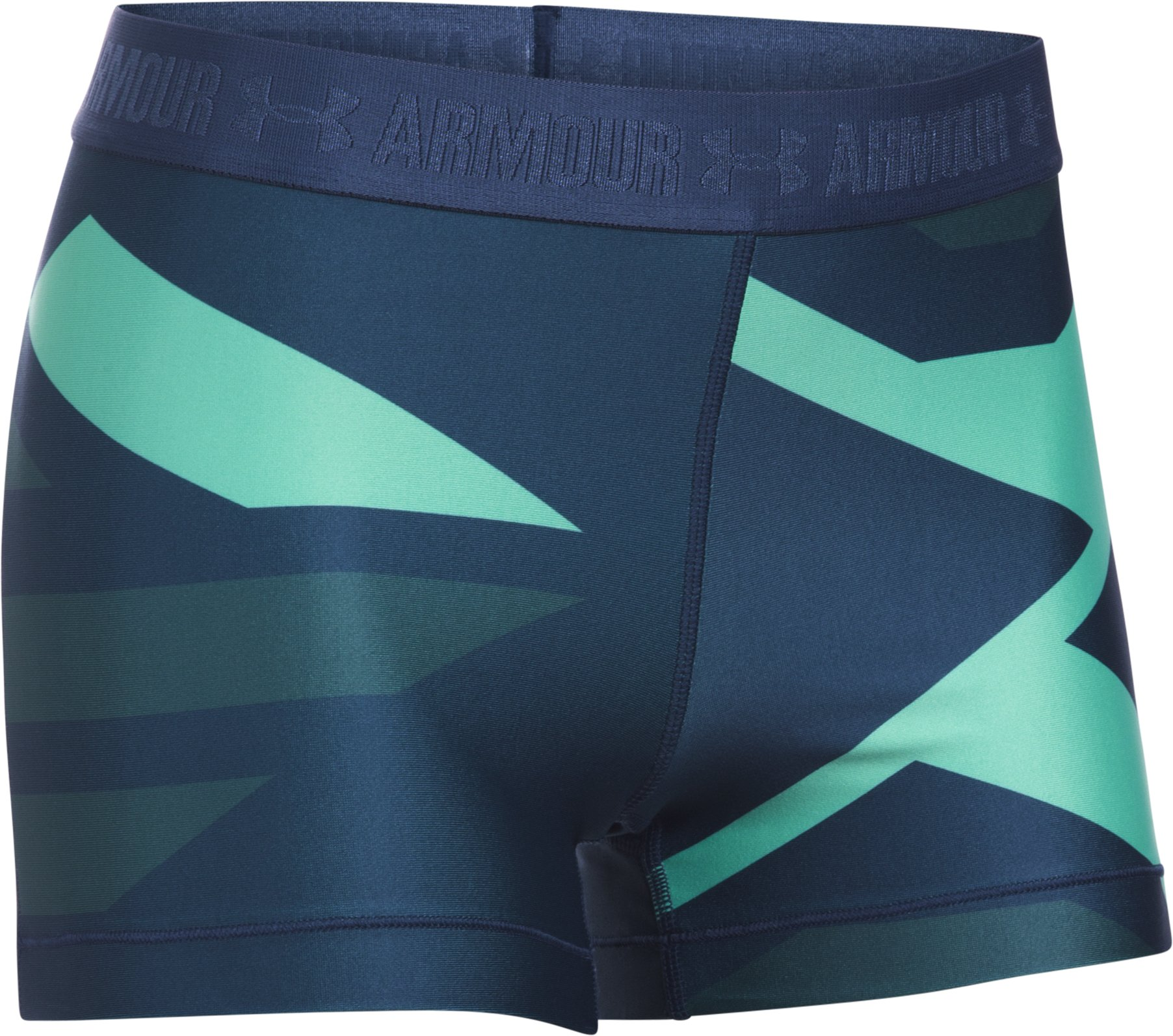 "Women's UA HeatGear® Armour 3"" - Engineered, BLACKOUT NAVY, undefined"