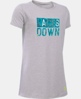 Girls' UA Laces Down Short Sleeve T-Shirt  2 Colors $14.99