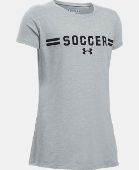 Girls' UA Soccer Short Sleeve T-Shirt LIMITED TIME: FREE SHIPPING  $19.99