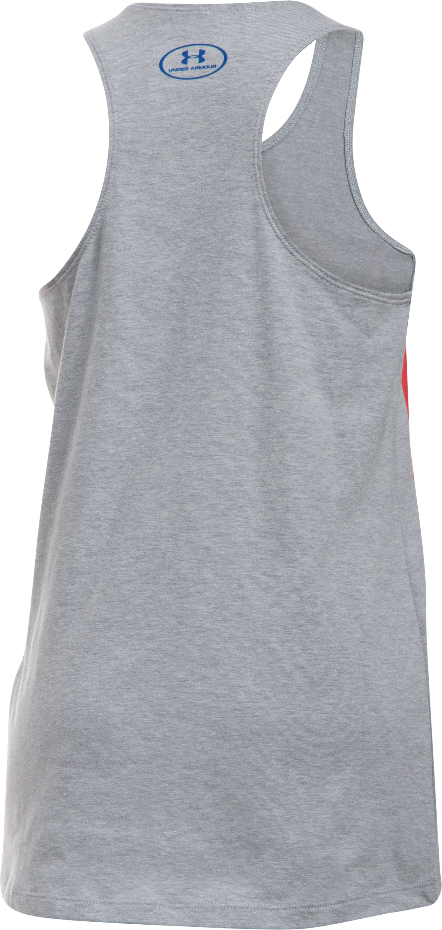 Girls' Under Armour® Alter Ego Wonder Woman Hero Tank, True Gray Heather, undefined